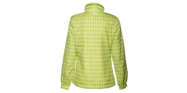Dámská světle zelená kostičkovaná bunda Envy