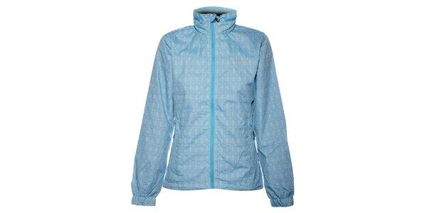 Dámská světle modrá kostičkovaná bunda Envy