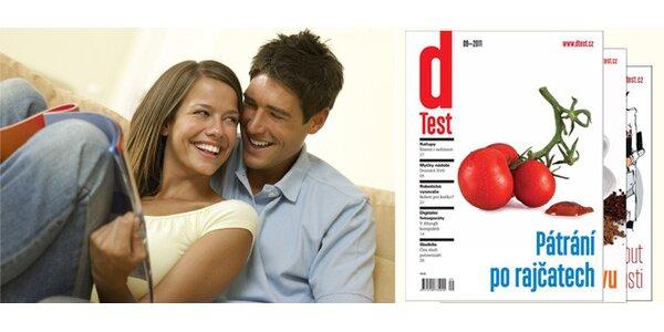 Tříměsíční předplatné časopisu dTest + online databáze.