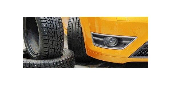 Kompletní přezutí pneumatik u osobního automobilu