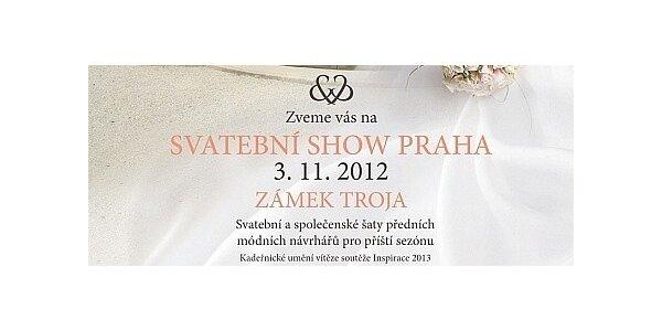 2 vstupenky na Svatební Show Praha v Trojském zámku dne 3.11.2012 od 10 hod