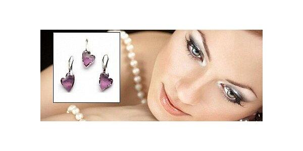Luxusní set s krystaly SWAROVSKI® ELEMENTS Devoted 2 U Heart