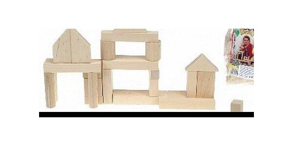 Dvě balení dřevěných kostek NATURAL 1. jakost (2x32ks)