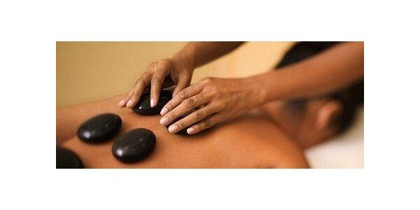 Vyhřívající a relaxační masáž horkými lávovými kameny