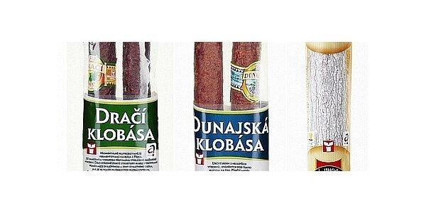 Balíček tří klobás - Dunajská, Dračí, Orlík