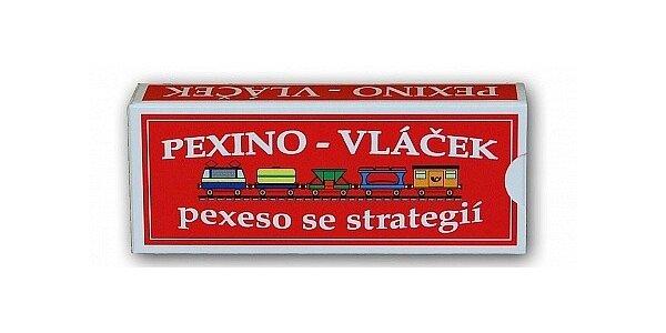 Pexino - vláček aneb pexeso se strategií