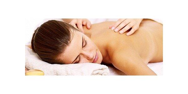 Relaxační nebo sportovní masáž zad a šíje, dolních nebo horních končetin