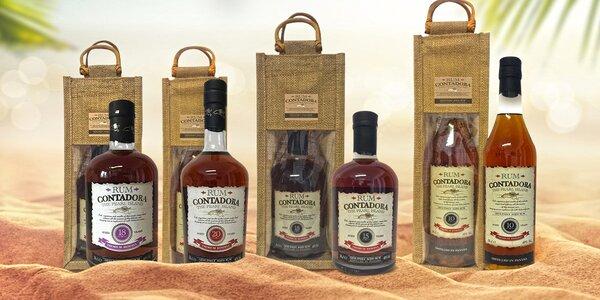 Exkluzivní karibské rumy v dárkové jutové tašce