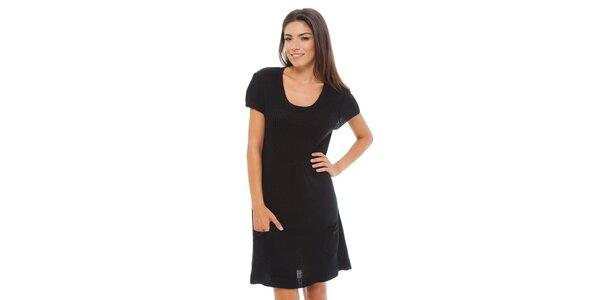 Dámské černé pletené šaty Ada Gatti