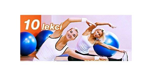 10 lekcí Zumby, Pilates, Bodystylingu, Power Jógy a mnohem více.