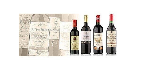 """4 vína - 4 tváře """"pravého břehu"""" Bordeaux"""