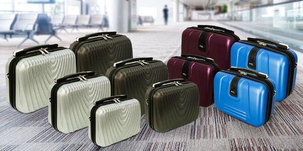 Sady 2 a 3 kosmetických kufrů v několika barvách