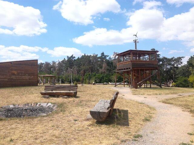 Dřevěné bludiště a park Květoslavy Šátkové Cerhenice