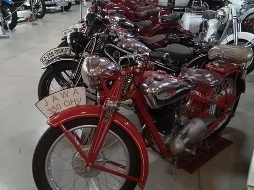 Výstava československých motocyklů Jawa a ČZ v Kopřivnici