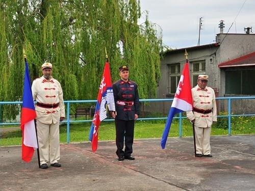 Slavnostní předání a svěcení hasičského praporu ve Žďárci u Seče