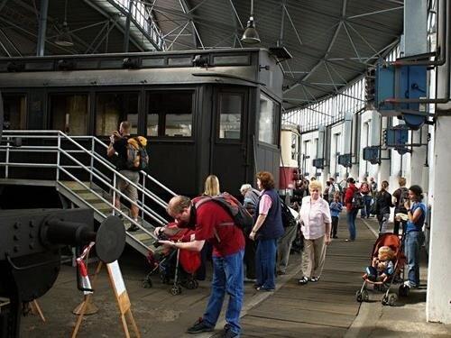 Dny otevřených dveří v chomutovském depozitáři Železničního muzea