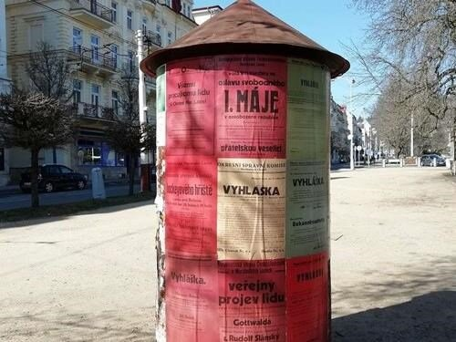 Plakáty roku 1946 - výstava v ulicích
