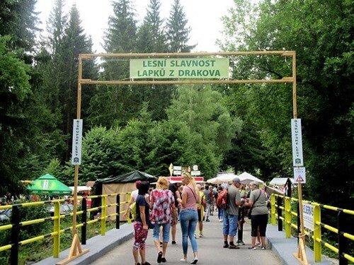 Lesní slavnost Lapků z Drakova v Biskupských lesích