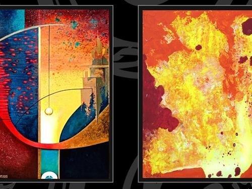 """Výstava obrazů """"Mezisvěty"""": Rosana de Montfort a Russell """"Githyanki"""" de Montfort"""