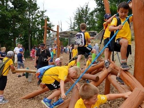 Opičí dráha pro děti v Zoo Brno