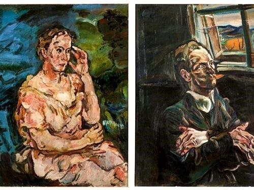 Výstava portrétů kněžny Mechtildy Lichnovské a Vězně autora Oskara Kokoschky