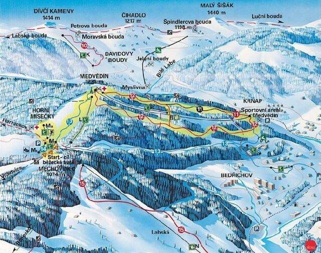 Ski areál Horní Mísečky - Medvědín