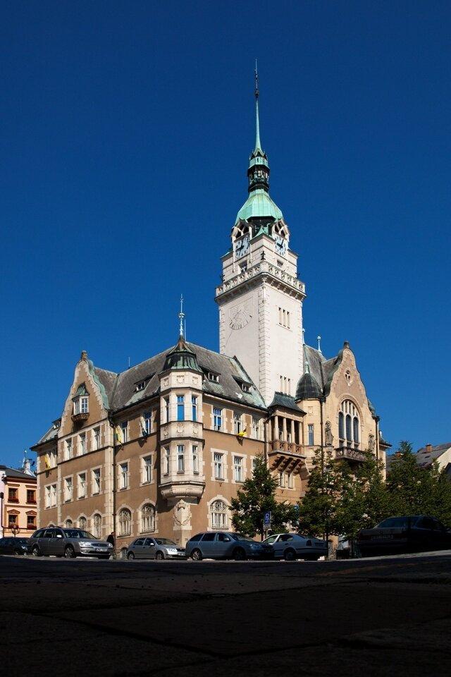 Šumperk - vyhlídka z věže stoleté radnice