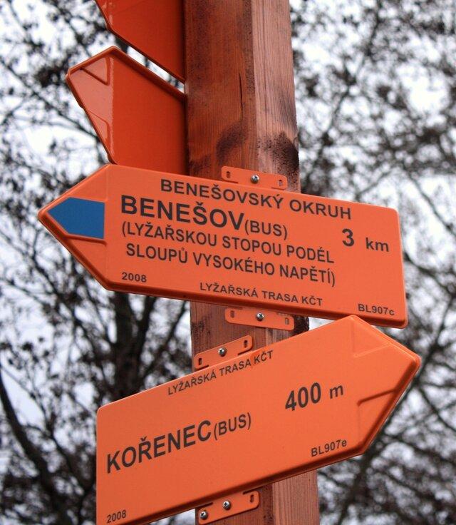 Lyžařské trasy Drahanské vrchoviny - Benešovský okruh
