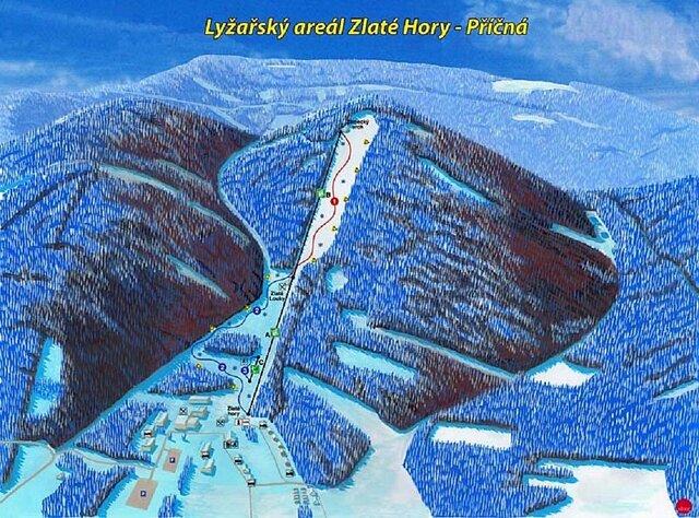 Ski areál Zlaté hory-Příčná