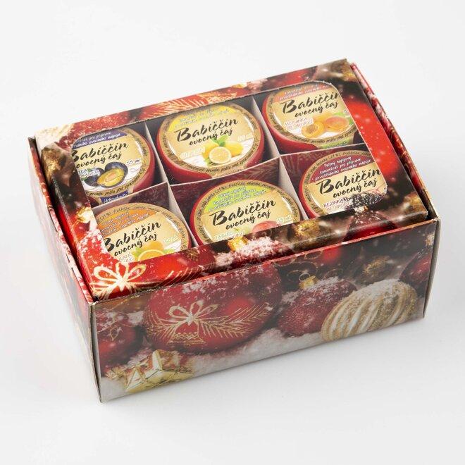 6× pečený čaj (à 60 ml) + červená vánoční dárková krabička