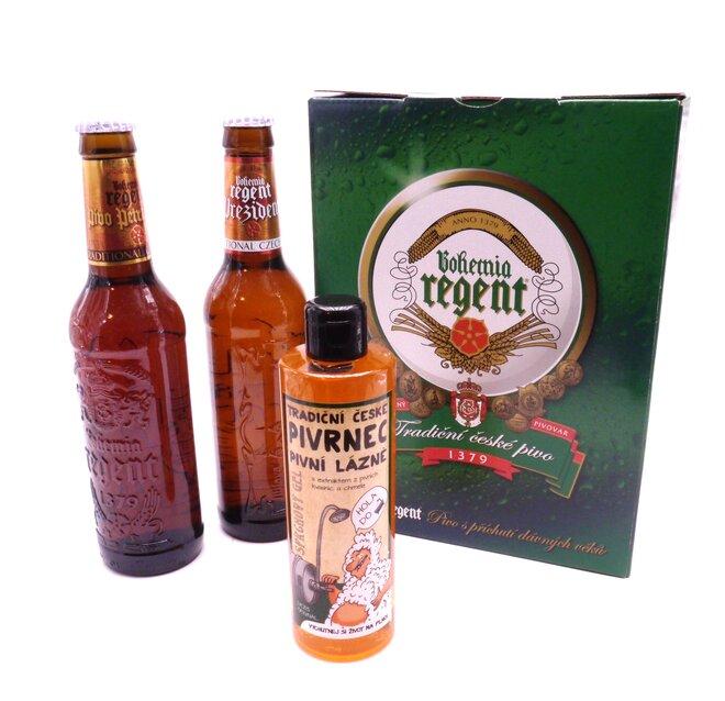 2x pivo + sprchový gel