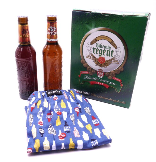 2x pivo + trenýrky s lahvemi