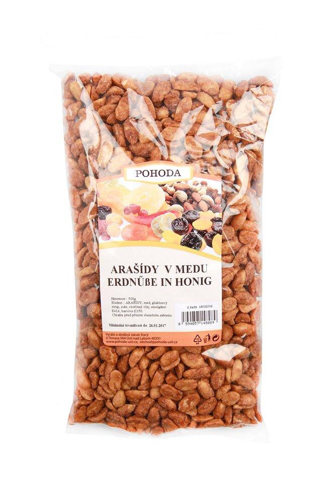 Arašídy v medu, 500 g