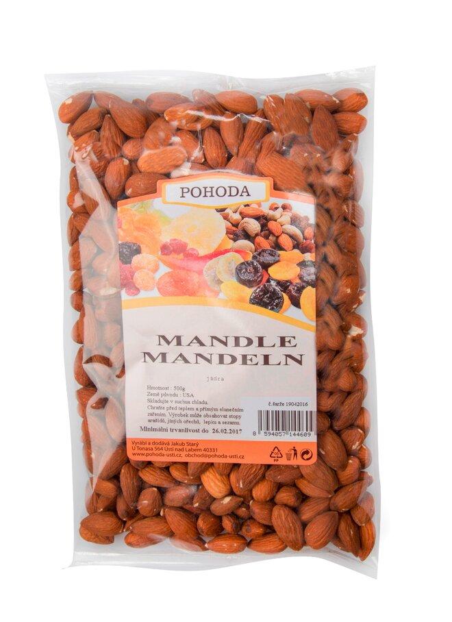 Mandle neloupané, 500 g