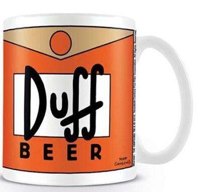 Bílý keramický hrnek The Simpsons - Duff Beer