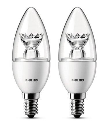 2 LED žárovky PHILIPS 3W E14 ve speciálním designu
