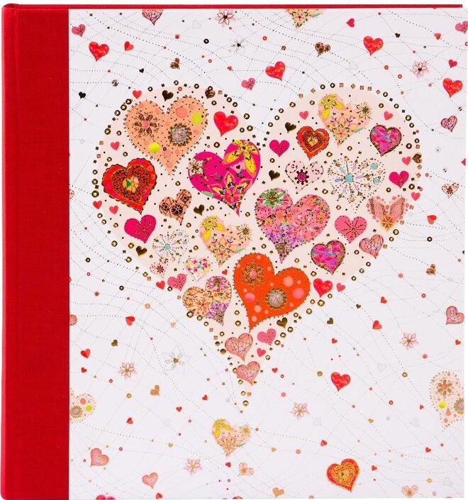 Šité fotoalbum růžkové BIG HEART 60 stran
