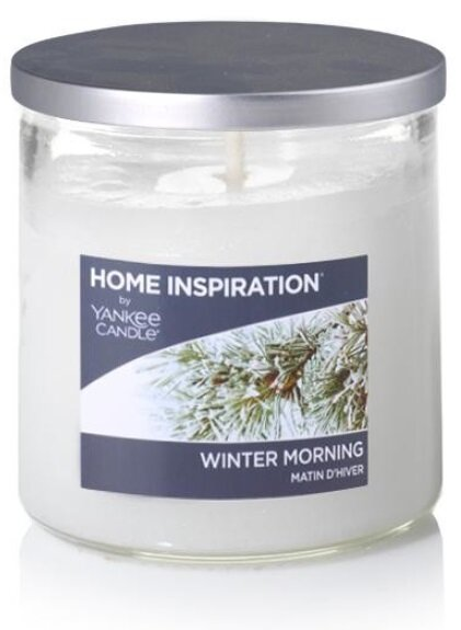 Yankee Candle Winter Morning 198 g + svíčka Opravdová růže 49 g