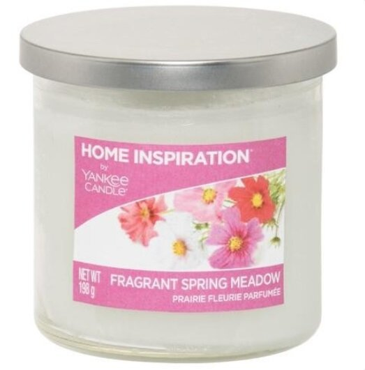 Yankee Candle Fragrant Spring Meadow 198 g + svíčka Opravdová růže, 49 g