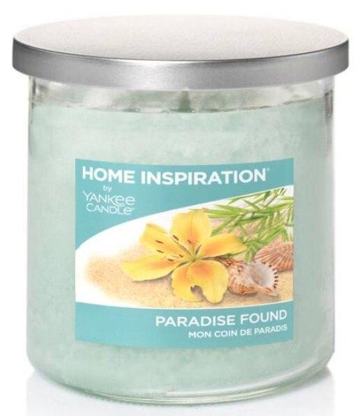 Yankee Candle Paradise Found 198 g + svíčka Vyšisovaná meruňková růže, 49 g