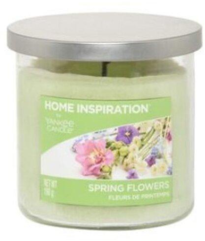 Yankee Candle Spring Flowers 198 g + svíčka Opravdová růže 49 g