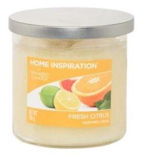 Yankee Candle Fresh Citrus 340 g + svíčka Měsíční svit, 49 g