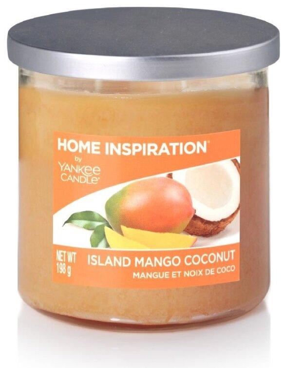 Yankee Candle Island Mango Coconut 198 g + svíčka Opravdová růže 49 g