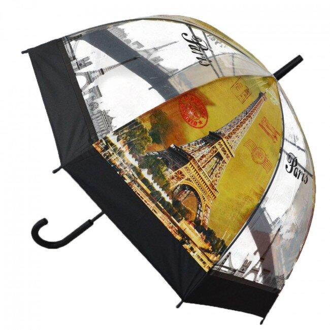 Poloautomatický deštník Paříž – černá