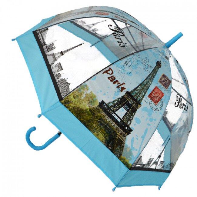 Poloautomatický deštník Paříž – modrá
