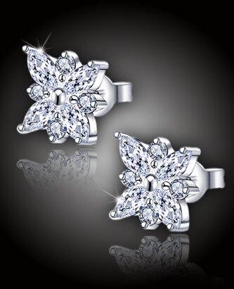 Náušnice Diamantová květina