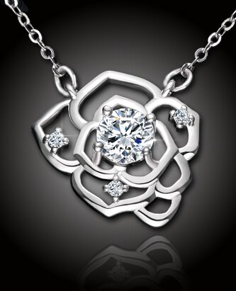 Romantický náhrdelník Crystal Rose
