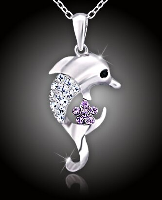 Krásný náhrdelník Veselý delfín