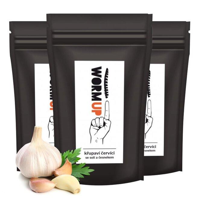 3x křupaví červíci s česnekem (à 20 g)