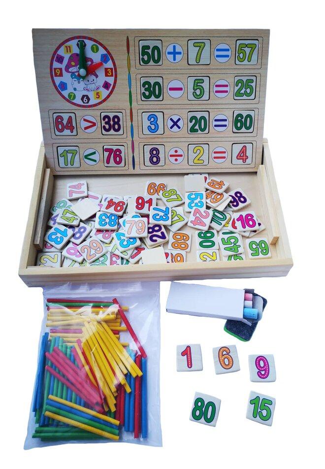 Multifunkční vzdělávací dřevěná tabulka
